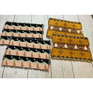 Vintage southwestern coyote skull sun placemats